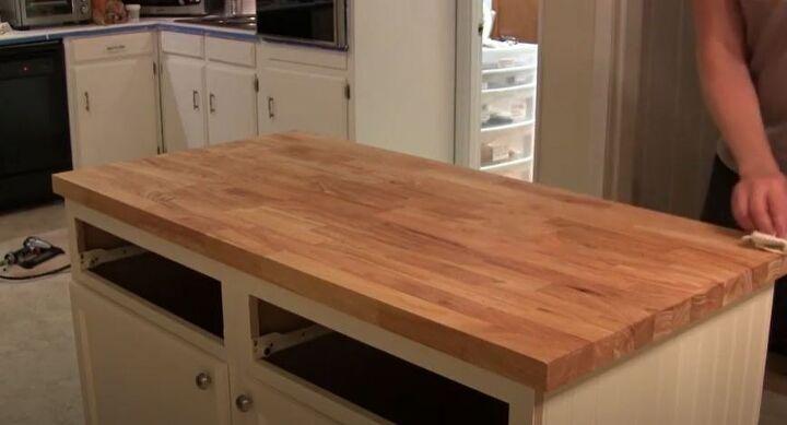Diy Kitchen Island With Butcher Block And Beadboard Hometalk