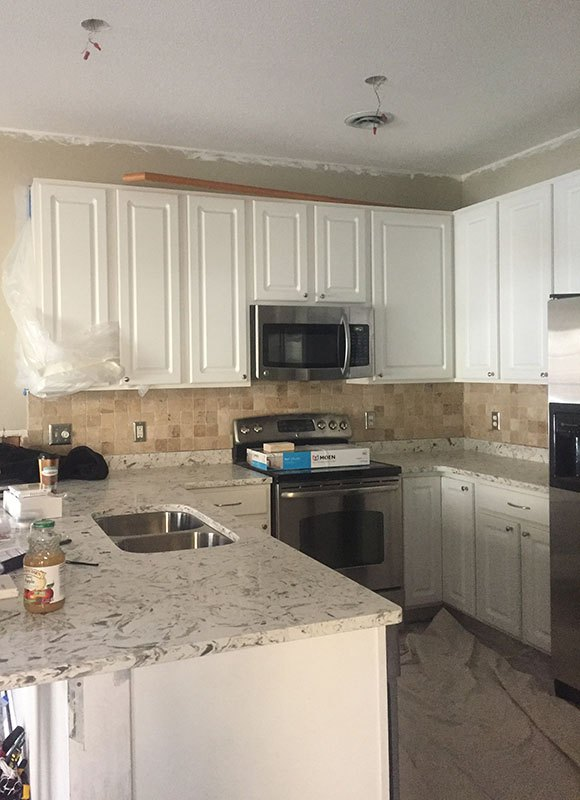 no to kitchen cabinets