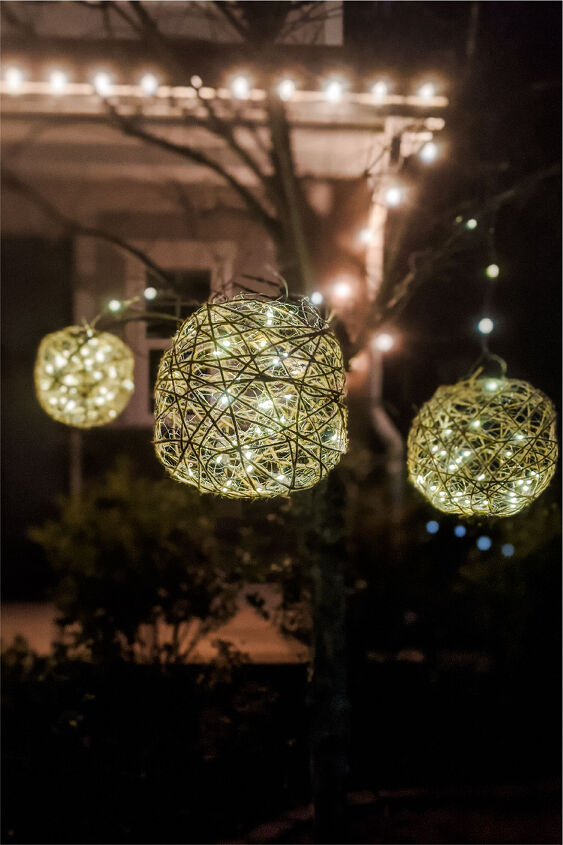 s 15 creative ways to light up your yard this summer, Glowing outdoor light balls