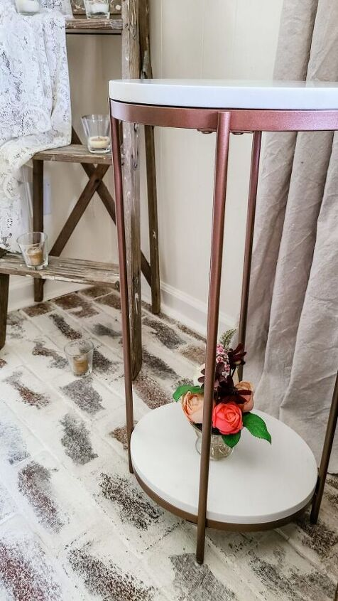 diy marble side table makeover