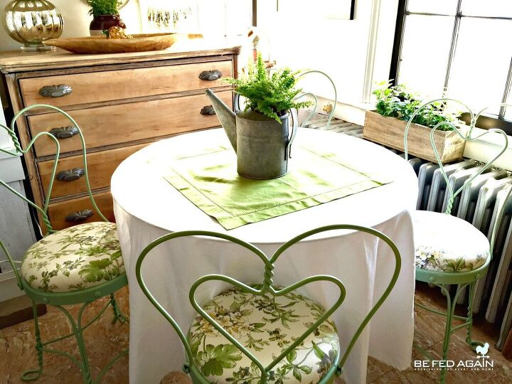 how to reupholster bistro chairs