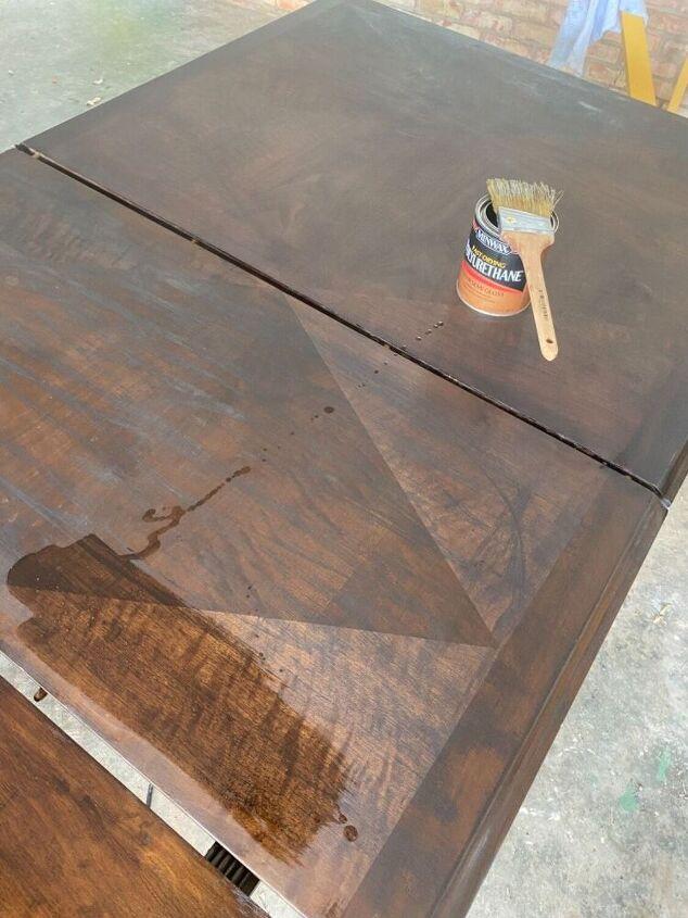 solid mahogany table refinish
