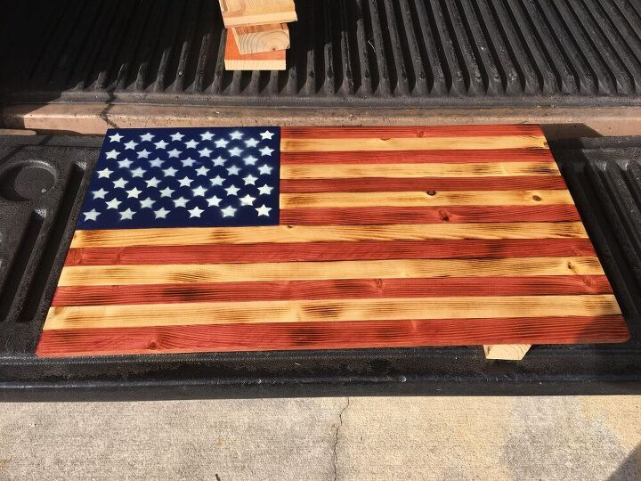 s 12 patriotic decor ideas for farmhouse vintage lovers, A stunning rustic flag