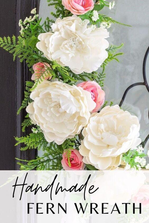 diy fern wreath easily make your front door inviting