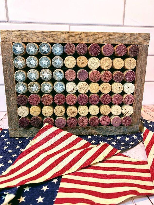 diy wine cork flag