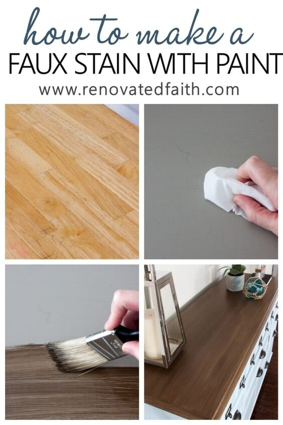 how to apply paint that looks like stain 6 stain shades to pick from, The shade in the picture above is Barnwood