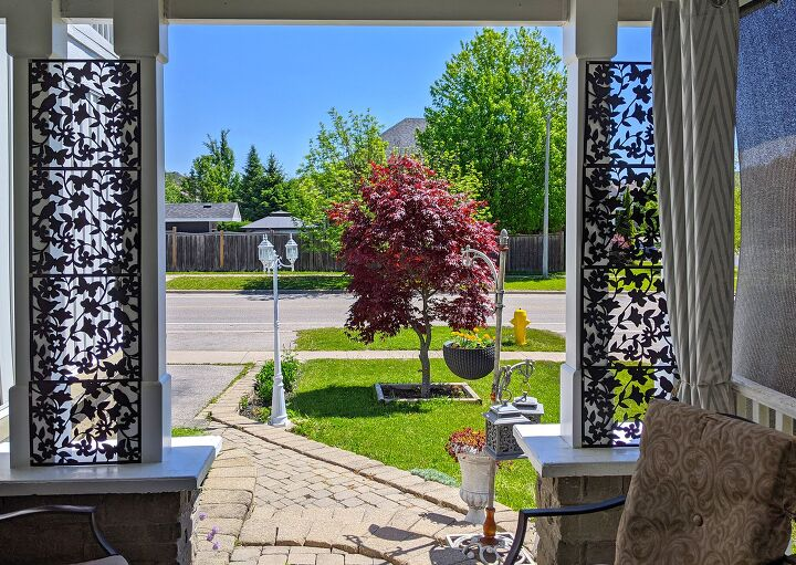 s 15 ways to make your outdoor living space more private, Put up pretty room divider panels