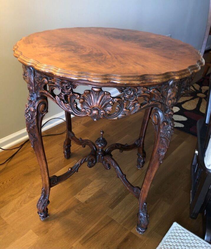 q paint an antique table