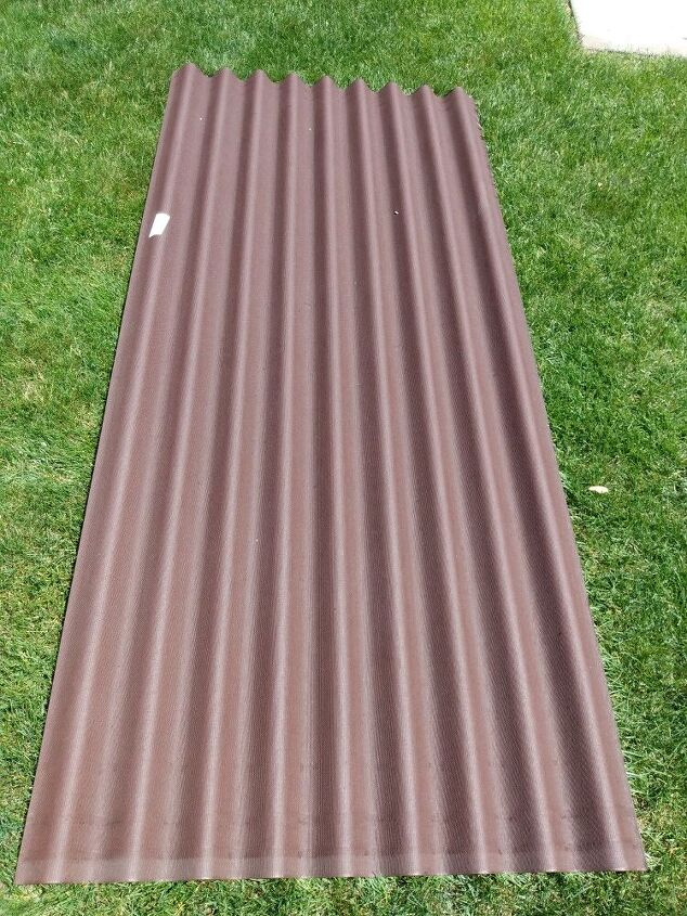 making a raised garden from a roofing panel
