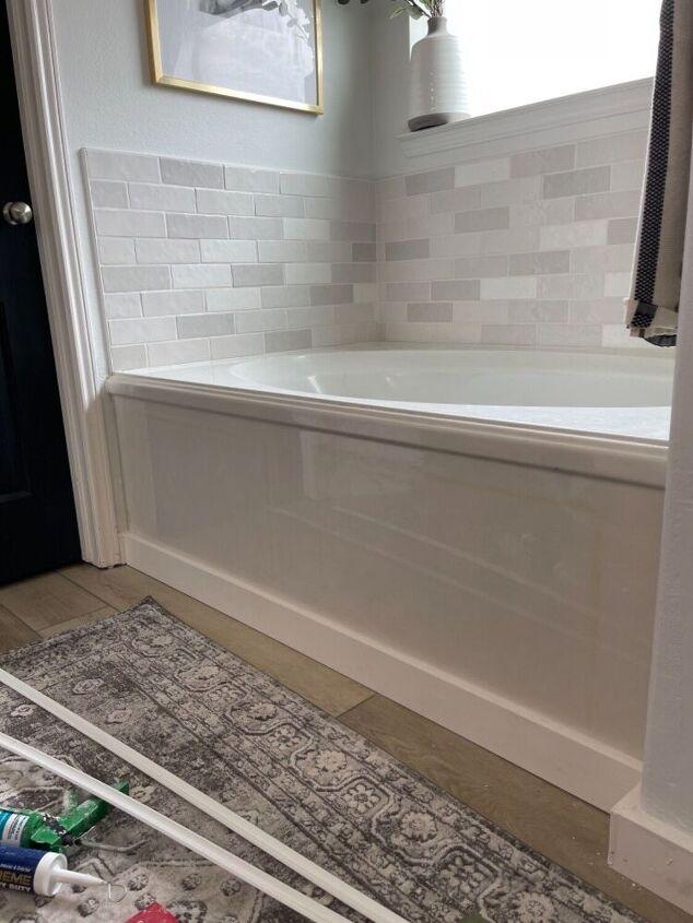 quick and easy bathtub trim