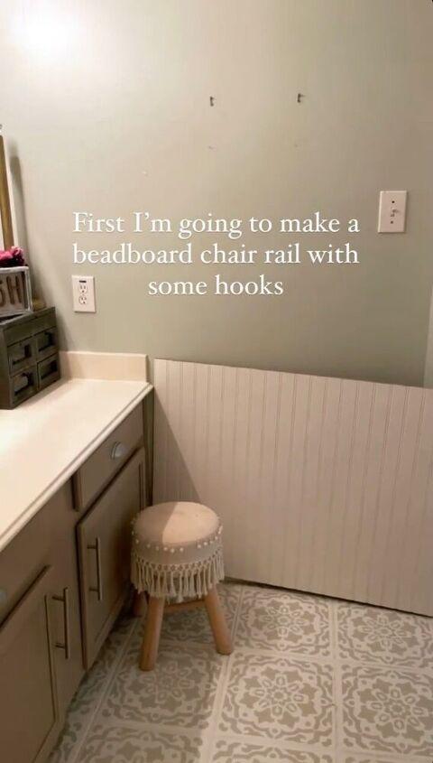 simple bathroom beadboard