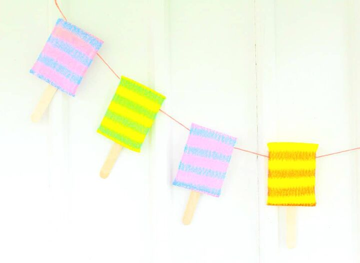 easy popsicle banner just glue together