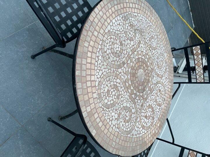 q re vamping mosaic table