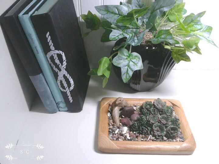 how to make a faux succulent garden with pine cones, Faux Succulent Garden