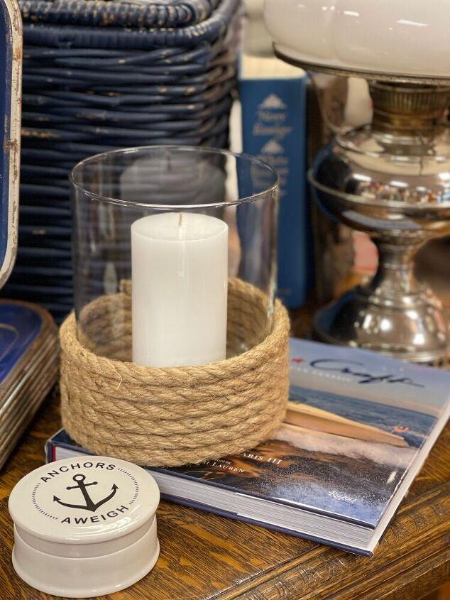 diy nautical candle holders