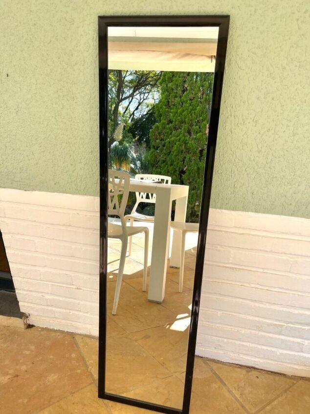 chinoiserie mirror from a cheapie