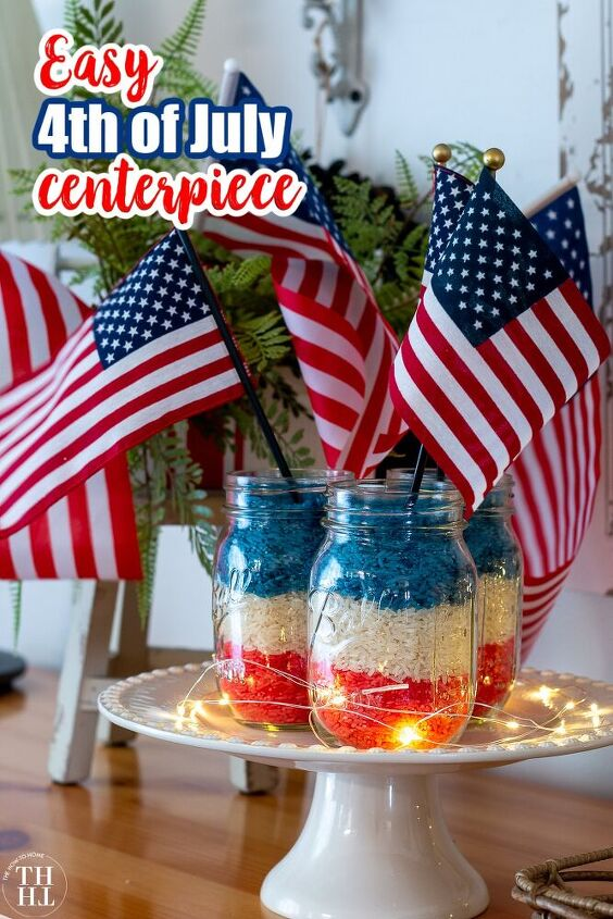 how to make an easy and inexpensive patriotic 4th of july centerpiece