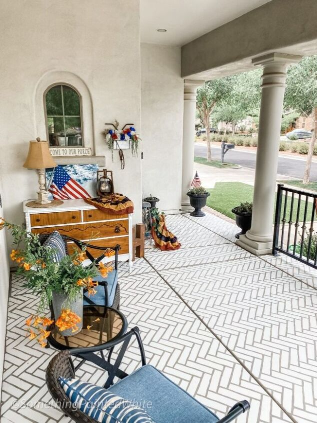 how to turn your front porch made of concrete into a brick porch made