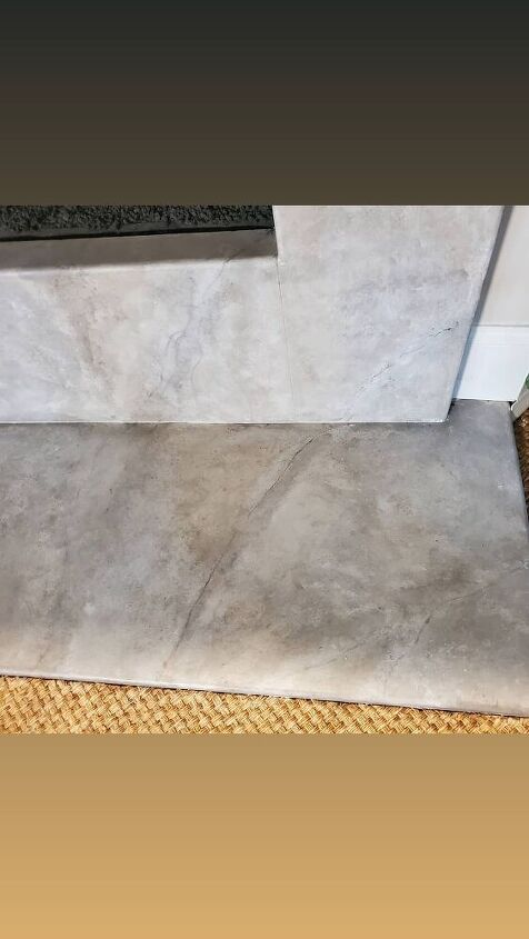 update your fireplace surround or countertops to look like marble