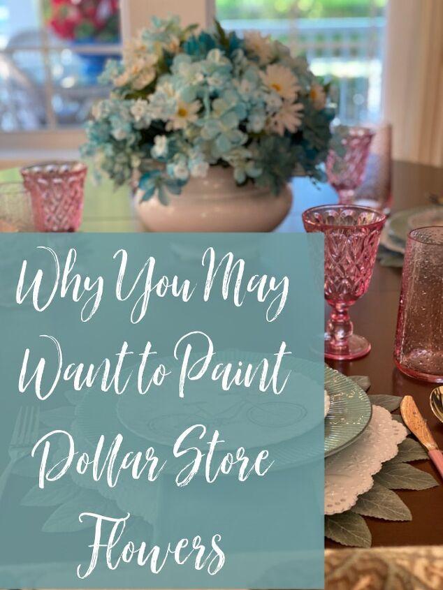 paint dollar store flowers