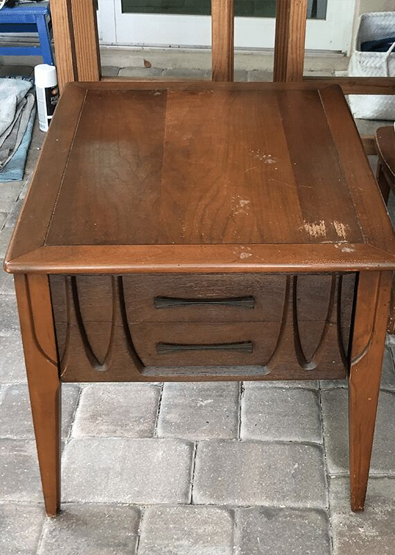 retro end table makeover