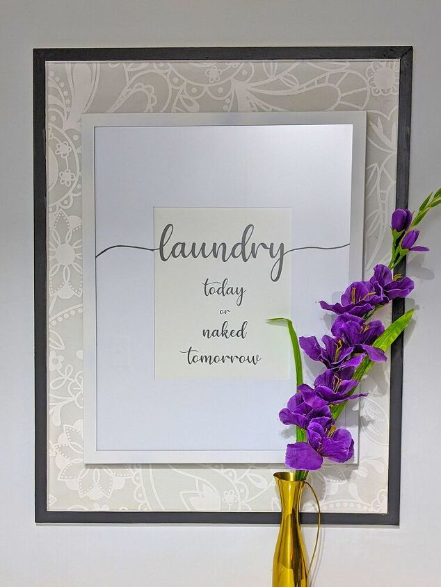 diy laundry room sign, After