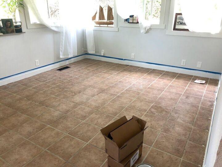 paint your tile floor