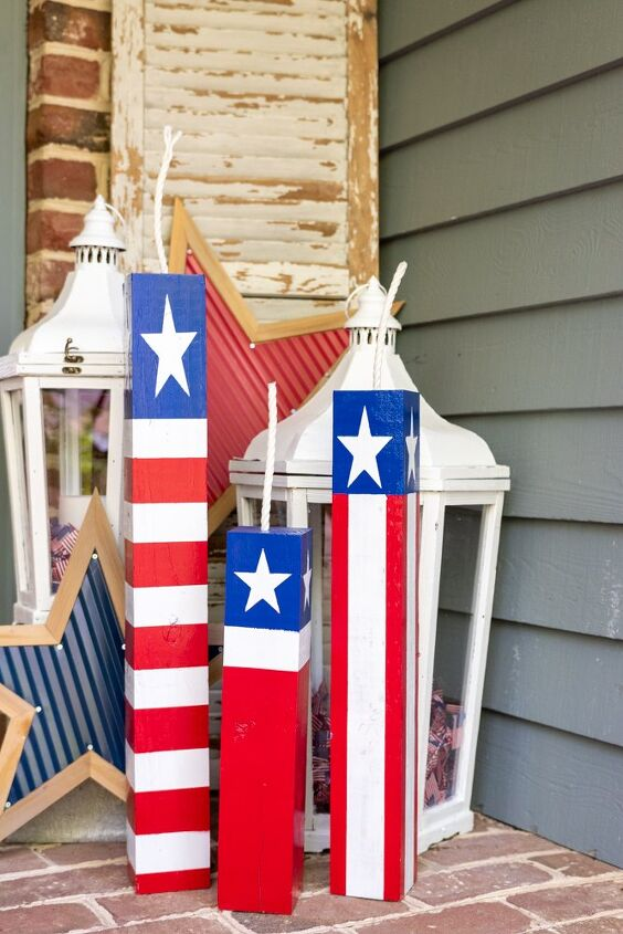 s 16 amazing july 4th decorating ideas to try this year, Americana Porch Fireworks