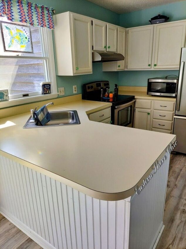 beach house painted countertops