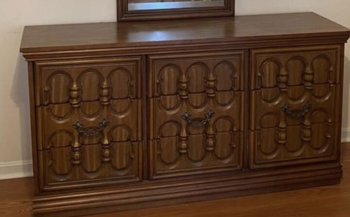 from dated to elated dresser makeover, Before