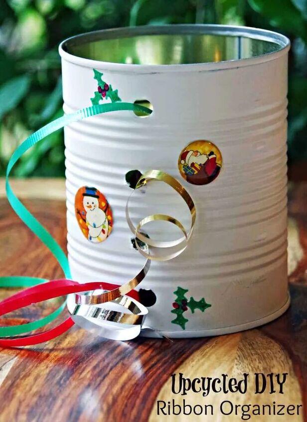 upcycled diy ribbon organizer