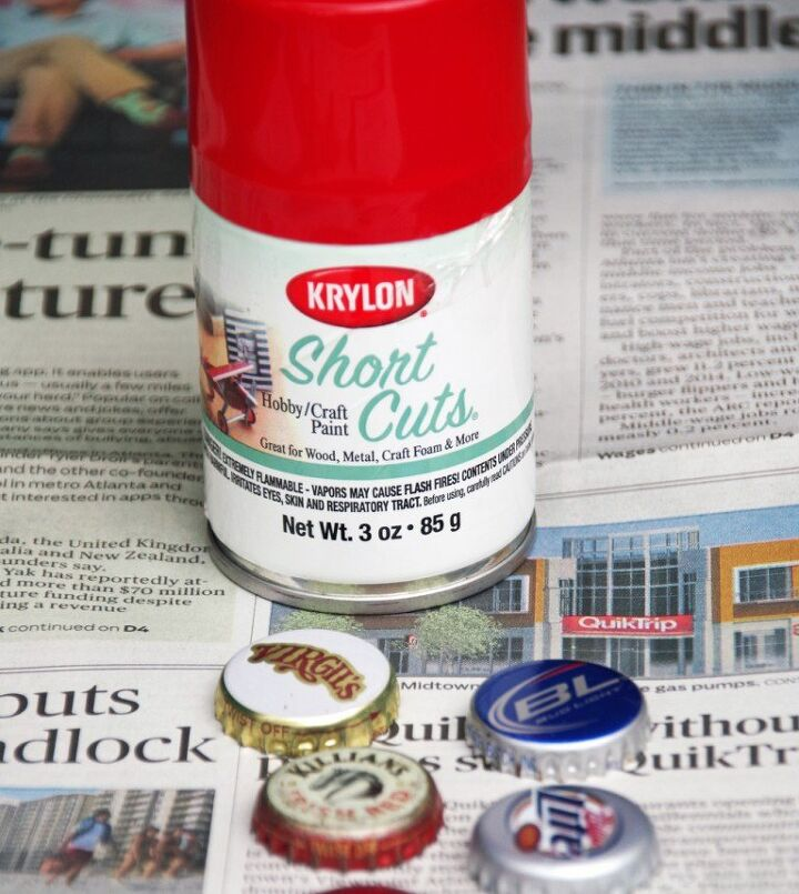 lady bug bottle cap magnets