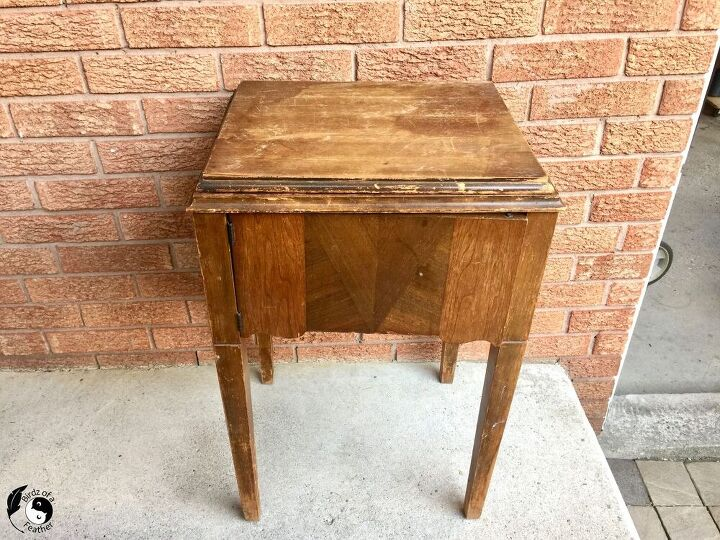 sewing table to drink station
