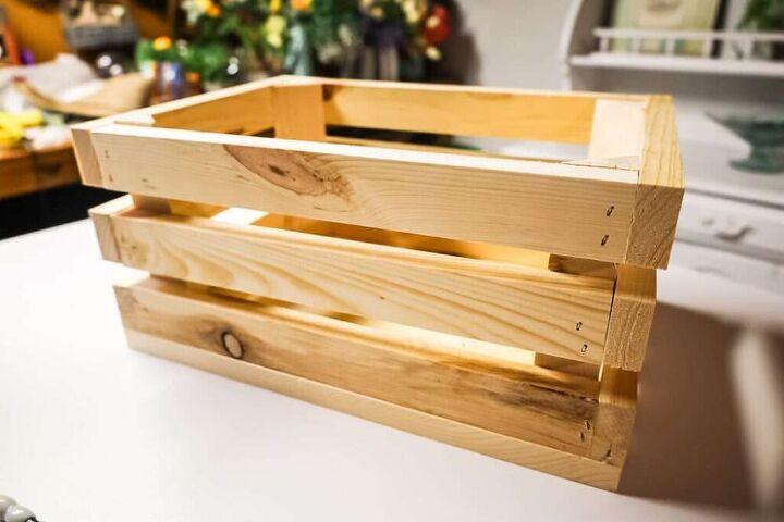 diy patriotic wood crate planter