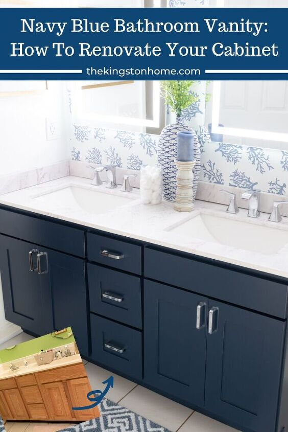 navy blue bathroom vanity how to renovate your cabinet