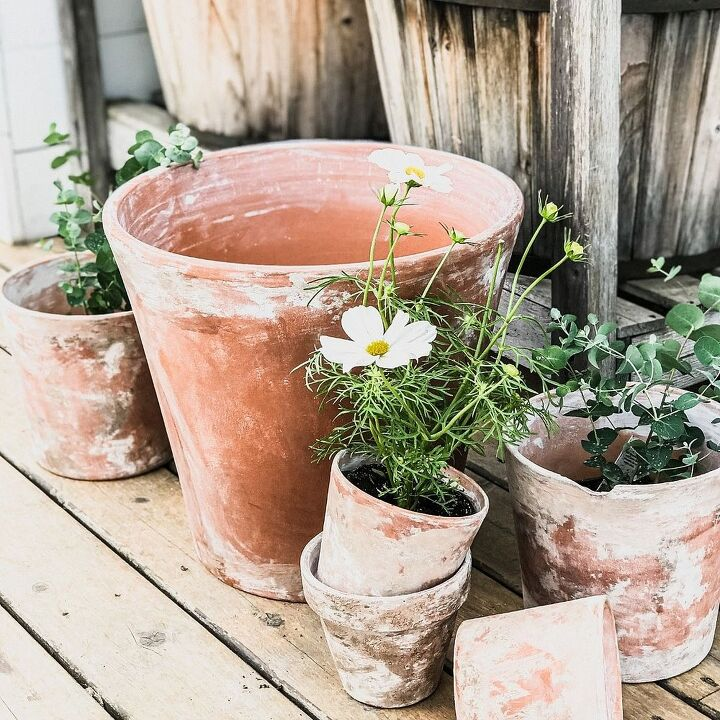 aging french flower pots vintage society co