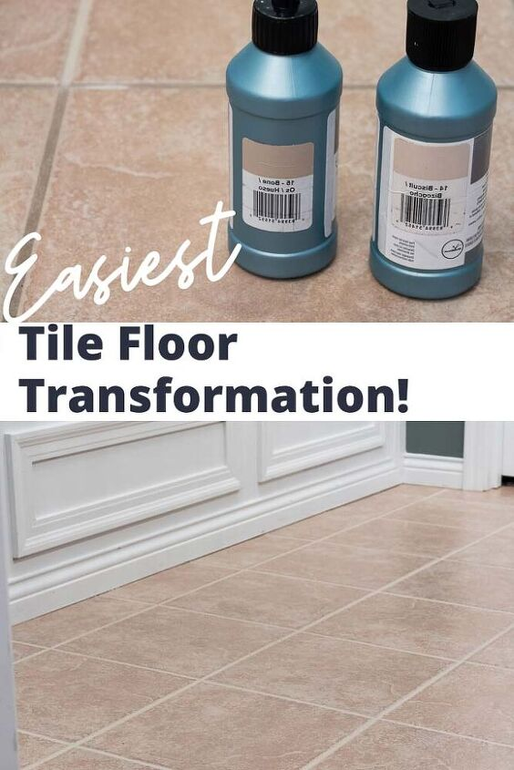 grout paint before and after the easiest tile floor transformation