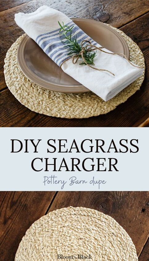 how to make a seagrass charger for under 1 pottery barn dupe