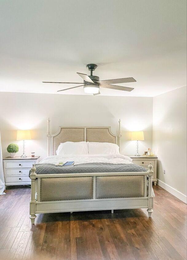 budget savvy master bedroom renovation flooring walls trim editio