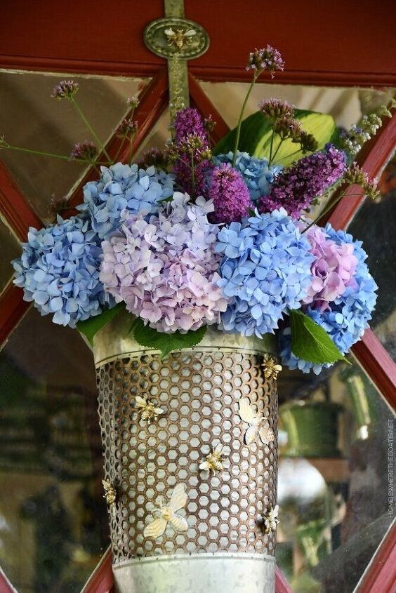upcycle an amazon prime envelope for a basket buzzing with blooms