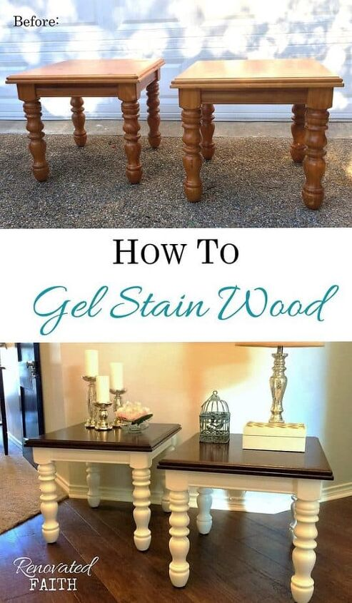 easiest gel stain over stain technique how to gel stain over paint