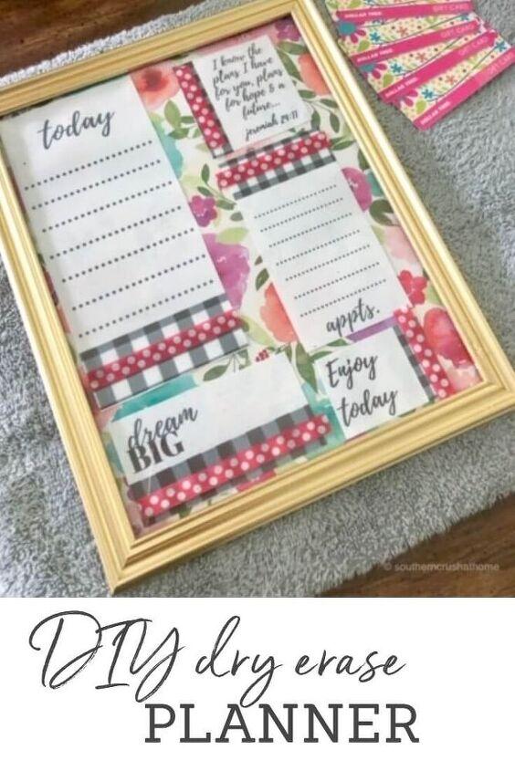 fresh start diy dry erase planner