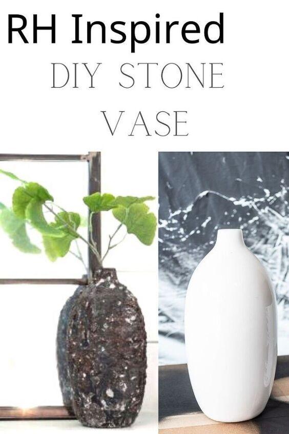 diy restoration hardware stone vase