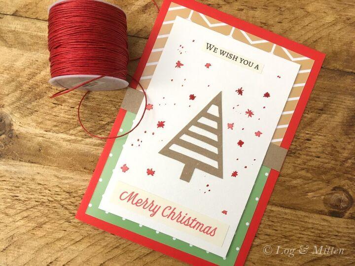 easy christmas card to make this holiday season