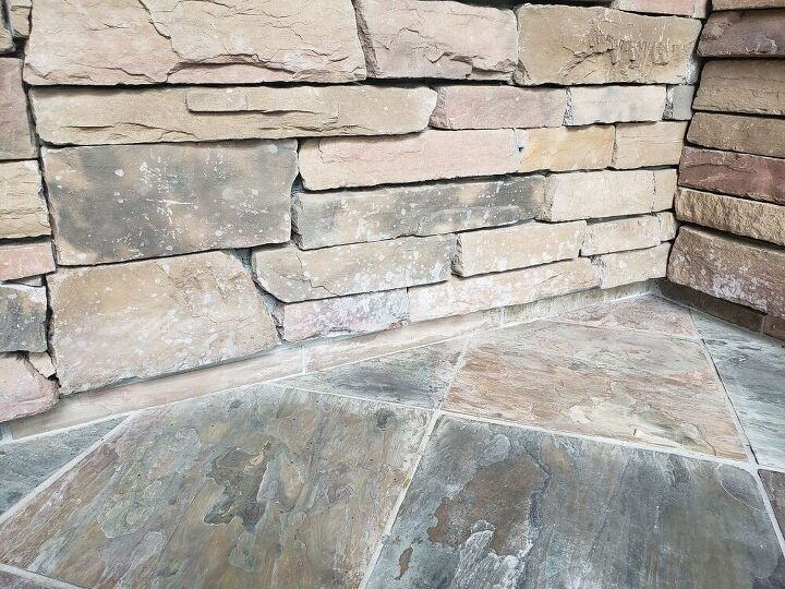 q how to clean stone stained by slate cleaner sealer
