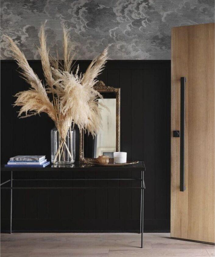 black shiplap an entryway makeover