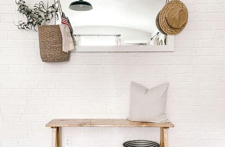simple diy farmhouse bench in 3 easy steps