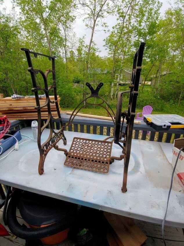 old sewing machine repurpose