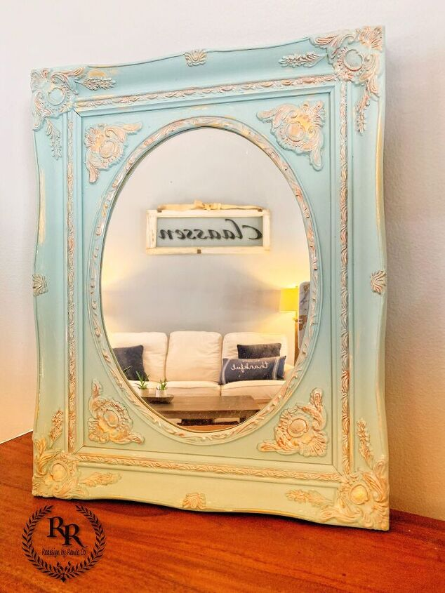diy mirror redesign with paint couture and posh pigments