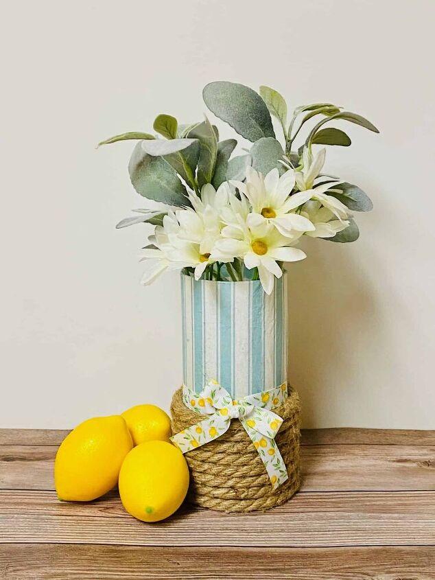 how to decoupage napkins on glass farmhouse vase